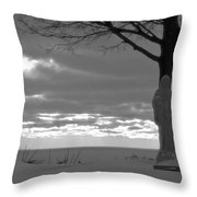 Virgin Mary At Sunset In South Haven Michigan Throw Pillow