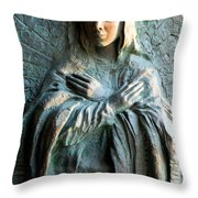 Virgin Mary Relief Throw Pillow