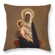Virgin Of The Deliverance Throw Pillow