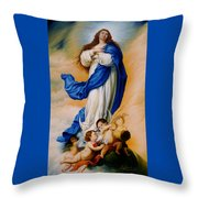 Virgin Of The Immaculate Conception After Murillo Throw Pillow