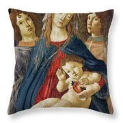 Virgin Of The Pomegranate Throw Pillow