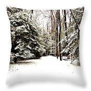 Virgin Snow Throw Pillow