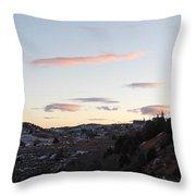 Virginia City Clouds  Throw Pillow