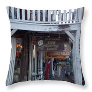 Virginia City Sidewalk  Throw Pillow