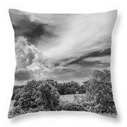 Virginia Clouds Throw Pillow