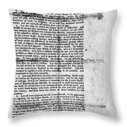 Virginia: Constitution Throw Pillow