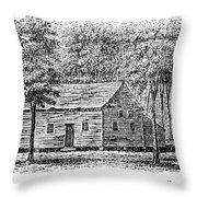 Virginia Rural Church Throw Pillow