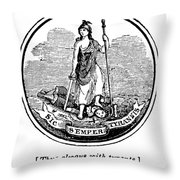 Virginia State Seal Throw Pillow