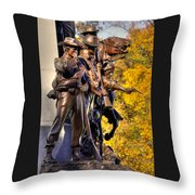 Virginia To Her Sons At Gettysburg - War Fighters - Band Of Brothers 1a Throw Pillow