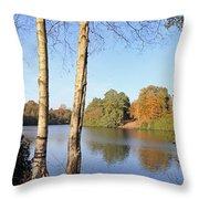 Virginia Water Windsor Berkshire Uk  Throw Pillow