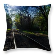 Virginius Island Tracks Throw Pillow