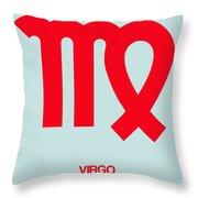 Virgo Zodiac Sign Red Throw Pillow
