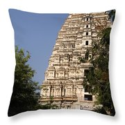 Virupaksha Temple In Hampi Throw Pillow
