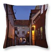 Visby Evening  Throw Pillow