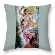 Vishwamitra Menaka Throw Pillow