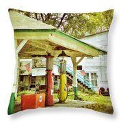 Visible Gas Pumps Throw Pillow