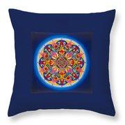 Vision - Brow Chakra Mandala Throw Pillow