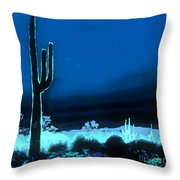 Vision Of A Desert Night Throw Pillow