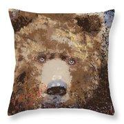Visionary Bear Throw Pillow