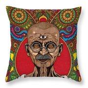 Visionary Gandhi Throw Pillow