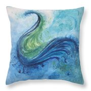 Peacock Vision In The Mist Throw Pillow