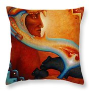 Visions Of A New Earth Throw Pillow