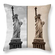 Visions Of Liberty Throw Pillow
