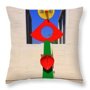 Visions Of Miro Throw Pillow