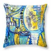 Visions Of Perceptive Elements Throw Pillow