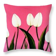 Visions Of Springtime - Abstract - Triptych Throw Pillow