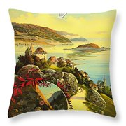 Visit Switzerland 1895 Throw Pillow by Mountain Dreams