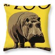 Visit The Philadelphia Zoo Throw Pillow