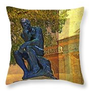 Visit To The Thinker Throw Pillow