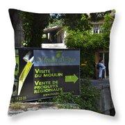 Visite Du Moulin Throw Pillow