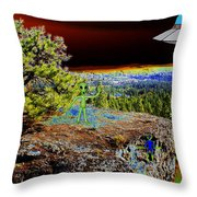 Visiting Rimrock In Spokane Throw Pillow