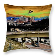 Visiting Spokane Throw Pillow