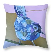 Visiting Wren Throw Pillow