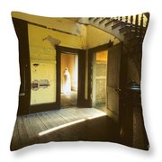 Visitor At The Meade Hotel Throw Pillow
