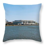 Visitors At Old Georgetown Waterfront Throw Pillow