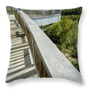 Visitor's Center Lookout Throw Pillow