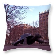 Visitors - Copley Square Throw Pillow