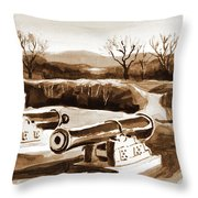 Visitors Welcome In Sepia Throw Pillow