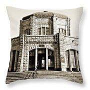 Vista House - Sepia Throw Pillow