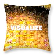 Visualize Gold Throw Pillow