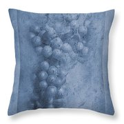 Vitis Cyanotype Throw Pillow
