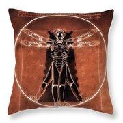 Vitruvian Cyberman On Mars Throw Pillow