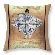 Vitruvian Falcon Millenium Throw Pillow
