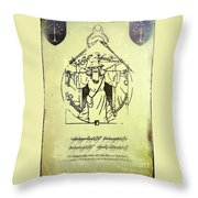 Vitruvian Gandalf The White Throw Pillow