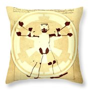 Vitruvian Stormtrooper Ghost Throw Pillow