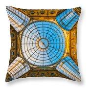 Vittorio Emanuele Gallery - Milan Throw Pillow